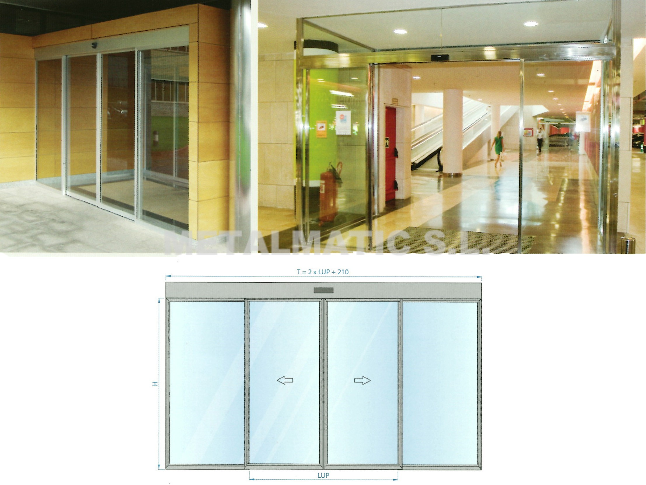 Metalmatic puertas cristal corredera metalmatic for Correderas de cristal