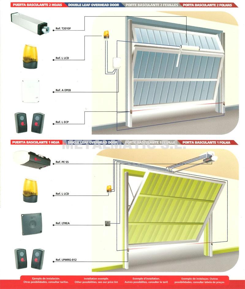Metalmatic automatismos puertas basculantes metalmatic for Puertas abatibles garaje