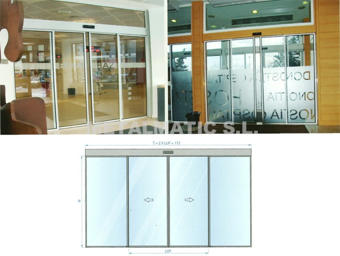 Metalmatic puertas cristal corredera metalmatic - Puertas de interior correderas de cristal ...