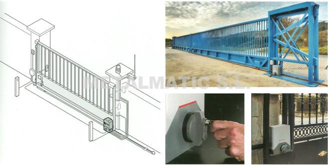 Metalmatic puertas de garaje correderas metalmatic - Carril para puerta corredera ...