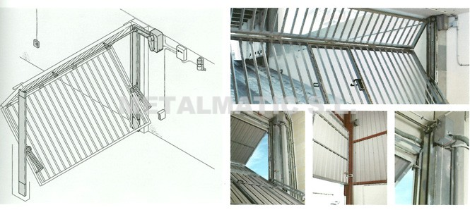 Metalmatic puertas de garaje basculantes metalmatic for Puertas abatibles garaje