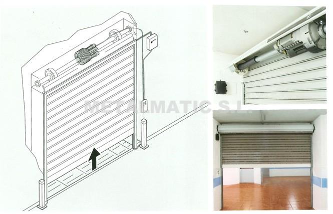 Metalmatic puertas de garaje enrollables metalmatic for Puertas enrollables