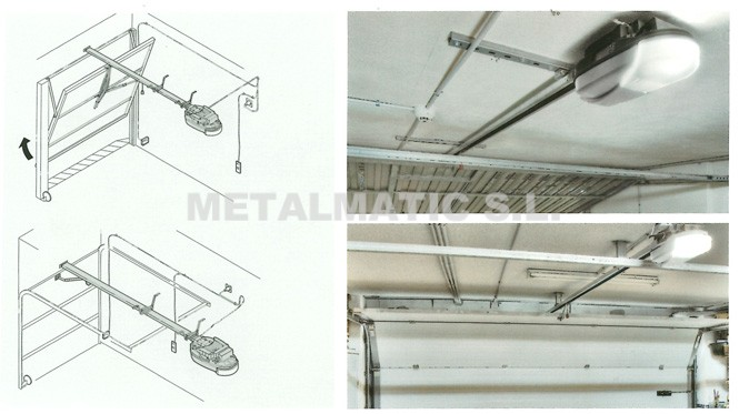 Metalmatic puertas de garaje basculantes metalmatic - Motor puerta garaje seccional ...